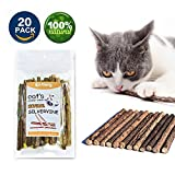 VMIZIV Cat Catnip Sticks, 20 Pcs Natural Matatabi Silvervine Sticks Chew Toys Cat Treats Sticks Natural Cat Dental Chews for Teeth Cleaning