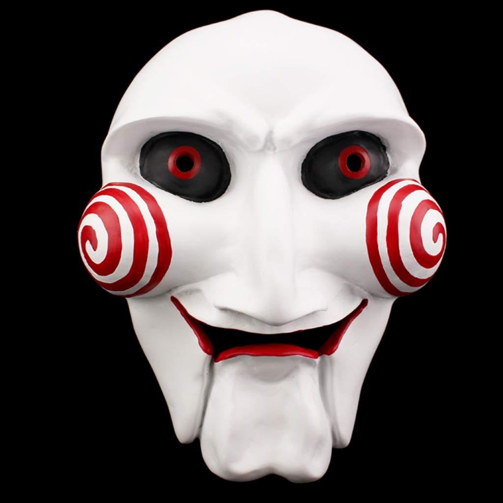 Zfggd Máscara de Horror de Halloween Fiesta de Baile Hombres Asesino Diablo Maquillaje Máscara de Resina: Amazon.es: Hogar