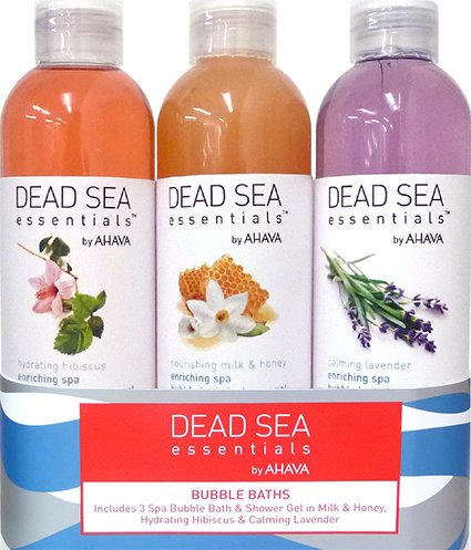 Dead Sea Essentials by Ahava 3 Piece Bubble Bath Trio, 3.8 Fluid Ounce