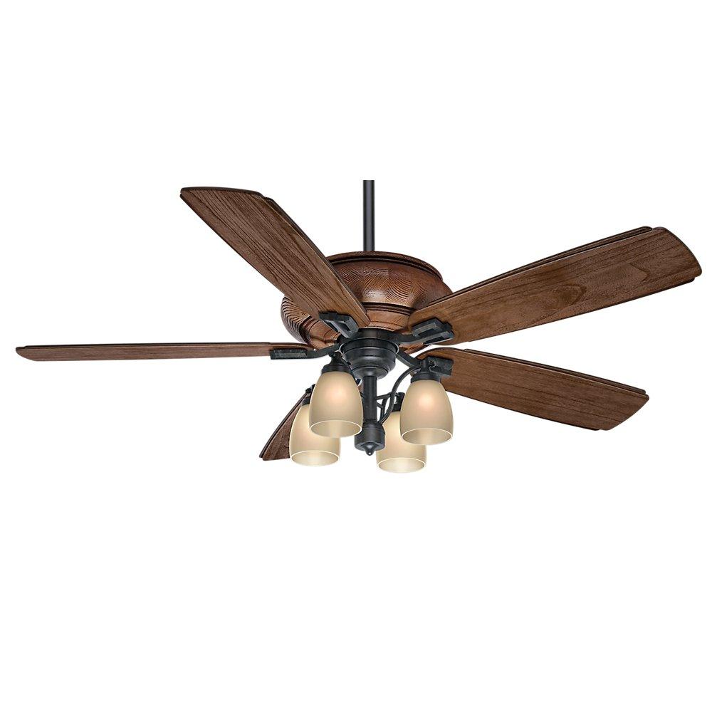 Casablanca Indoor Outdoor Ceiling Fan, with wall control – Heathridge 60 inch, Black, 55051