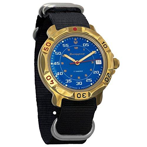 Vostok Komandirskie Commander Russian Army Mens Mechanical Military Wrist Watch #819181 (classic (Vostok Mechanical Wrist Watch)