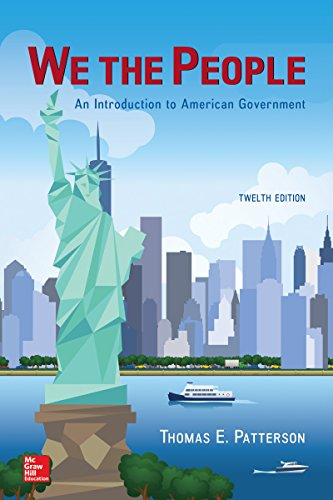 We The People: An Introduction to American Government cover