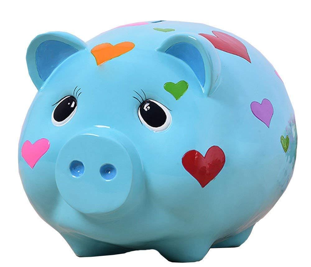 skincareguys Creative Cartoon Pig Piggy Bank Resin Animal Shape Money Banks Home Decoration Birthday Gift