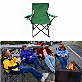 "Portable Lightweight Outdoor Folding Chairs Perfect For Camping Fishing Hunting Picnic BBQ And Beach Lounging (19.68"" x 19.68"" x 31.49"") (Army Green)"