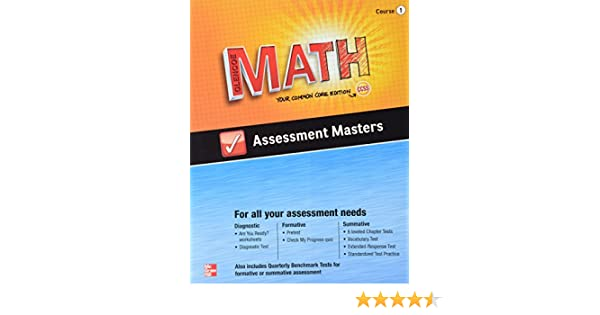 Amazon.com: Glencoe Math, Assessment Masters, CCSS Common Core ...