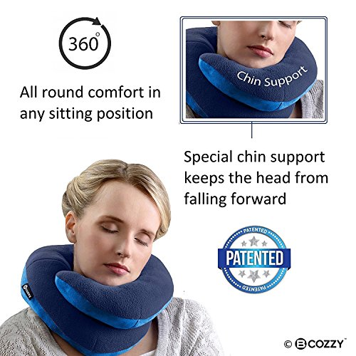 BCOZZY Chin Supporting Patented Travel Pillow  Prevents the head from falling forward in ANY sitting