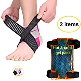 BodyMoves Kid's Ankle Brace Support Plus Hot and Cold Ice Pack (Sweet Pink, MED for Big Kids (US 3.5-7))