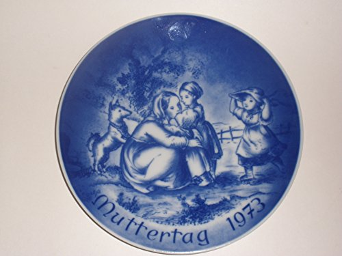 1973 Mother's Day Collector's Plate by (Bareuther Mothers Day Plate)