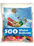 Uplifting Balloons Huge Water Balloons with Easy to Tie Long Necks, 500 Count