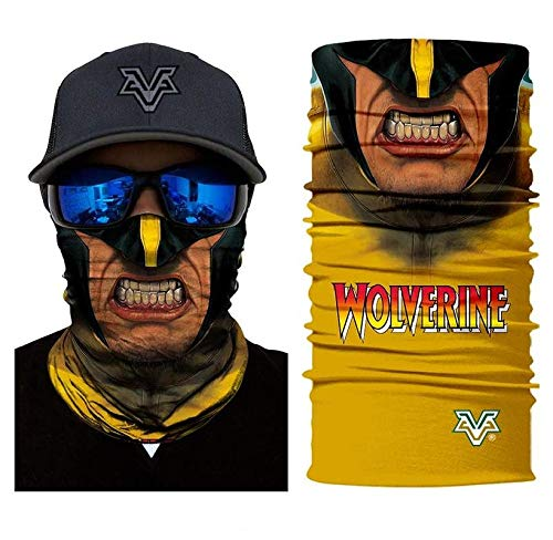 3D Wolverine Face Tube Neck Face Scarf Lower