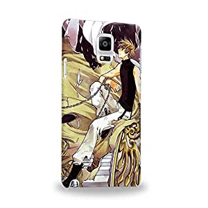 Case88 Premium Designs Tsubasa Chronicle Syaoran 1380 Carcasa/Funda dura para el Samsung Galaxy Note 4