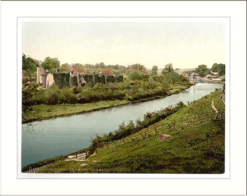 Allington Castle and river near Maidstone England, c. 1890s, (L) Library Image