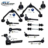 DLZ 12 Pcs Front Suspension Kit-2 Upper Control Arm Assembly 2 Lower Ball Joint 4 Tie Rod End 2 Sway Bar 1 Pitman Arm Idler Arm for Ford F-150 F-250, Ford Expedition, Lincoln Navigator