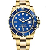 ROLEX SUBMARINER YELLOW GOLD BLUE CERAMIC 116618 BOX/PAPERS