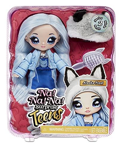 Na Na Na Surprise Teens moda para coleccionar-Muñeca de pelo azul de tela suave de 27,94cm inspirada en un lobo-Alaska…