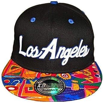 KB Ethos Los Angeles azteca gorras con visera plana, ajustada con ...