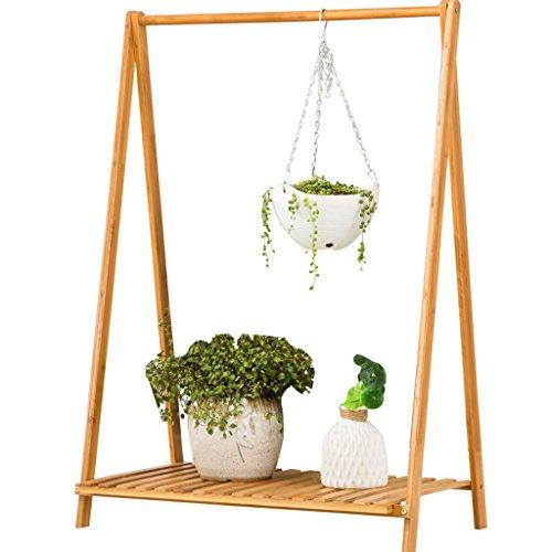PLDDY Mei-Estante de Planta Bamboo Flower Stand/Balcony Living Room Soporte de Flores/Plegable Flower Stand/Multi-función...