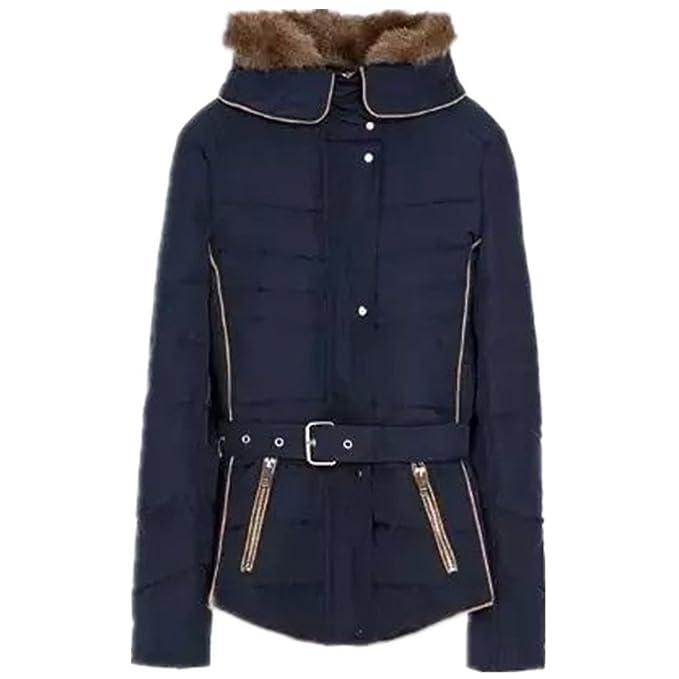 BOMOVO Para mujer diseño de cuadros capucha de para mujer cinturón de piel de para abrigos con capucha con de abrigos de forro polar Belted: Amazon.es: Ropa ...