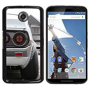 YiPhone /// Prima de resorte delgada de la cubierta del caso de Shell Armor - Blanca Datsun - NEXUS 6 / X / Moto X Pro