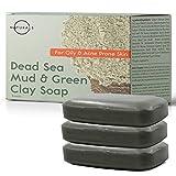 O Naturals Acne Treatment Dead Sea Mud & Green Clay Deep-Cleansing Bar Soap