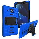 "samsung galaxy tab 3 v Galaxy Tab E Lite 7.0 Case SM-T113, KIQ Shockproof Heavy Duty Military Impact Protection Rugged Armor Cover for Samsung Galaxy Tab 3 Lite 7.0 / Tab E 7"" Lite [T110, T111, T113, T116] Armor Blue"