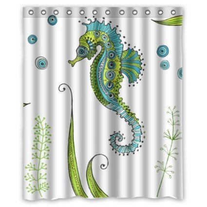High Quality And New Fashion Seahorse Shower Curtain (60