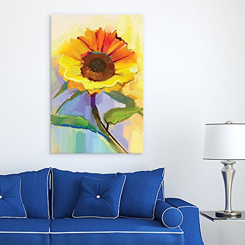 Oil Painting Style Sunflower
