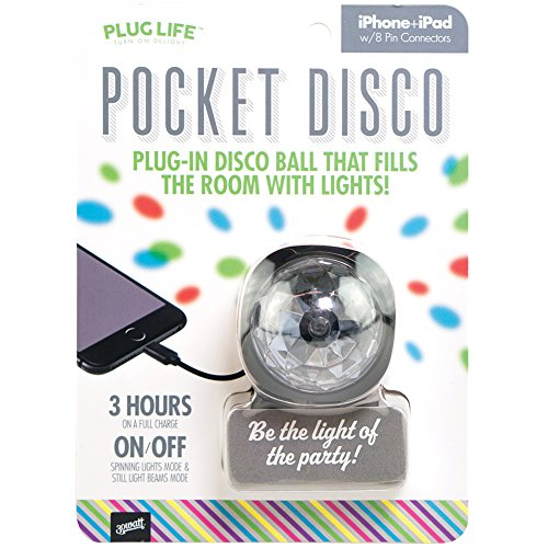 Pocket Sized Disco Ball - Plugs Into iPhone Or iPad To Fill Room With Lights (Pocket Laser Light Show)