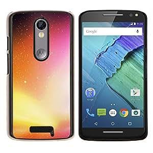 EJOOY---Cubierta de la caja de protección para la piel dura ** Motorola Moto X3 3rd Generation ** --Neon Galaxy