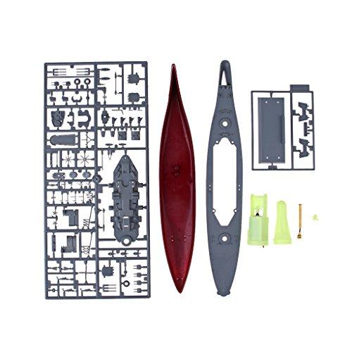 Perfk プラスチック製 1/550スケール 船アセンブリモデル USSミズーリ戦艦模型 ボートモデル