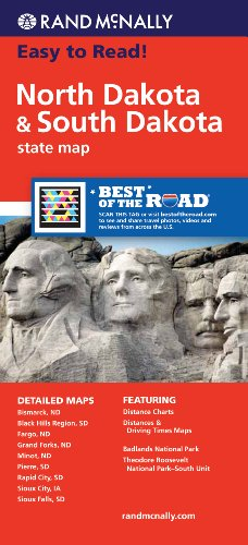 Rand McNally Folded Map: North Dakota, South Dakota (Rand McNally State Maps)