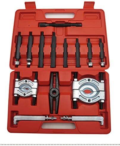 Mrcartool 14PCS Bearing Puller Capacity Bearing Separator Wheel Hub Axle Puller Pinion Bearing Removal Splitter Tool Kit