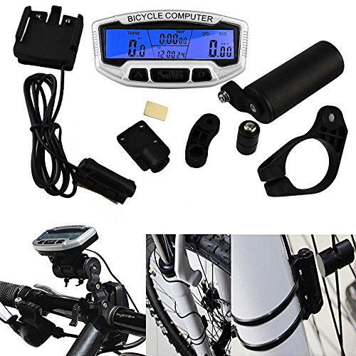 - Wired Bike Computer,23-in-1 Bicycle Speedometer Stopwatch Bicycle Odometer LCD Back-Light Motion Sensor Bicycle Speedometer Bike Odometer Cycle Computer Mountain Bike Speedometer Bicycle Computer