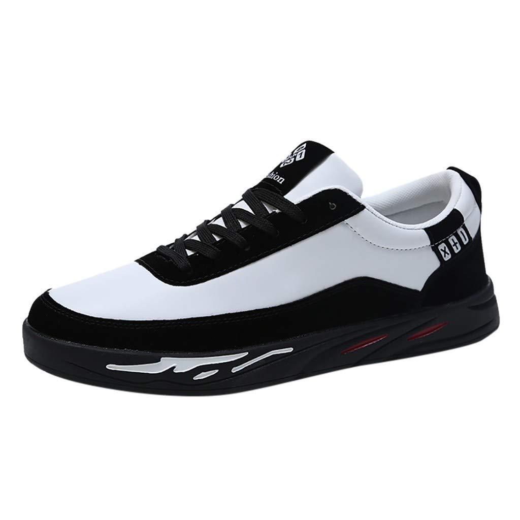 Zapatillas de Gimnasia para Hombre ZARLLE Zapatillas de Running para Hombre Zapatos de Lona al Aire Libre de los Hombres Casuales hasta Soles cómodos Zapatos Deportivos