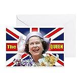 CafePress - HM Queen Elizabeth II - Greeting Card, Note Card, Birthday Card, Blank Inside Glossy