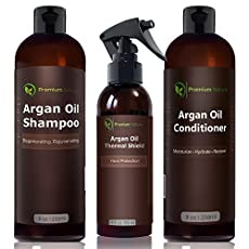 SPOIL YOUR HAIR WITH PREMIUM NATURE'S ORGANIC 3 PIECE ARGAN OIL HAIR TREATMENT SET !Premium Nature presents a new all-natural shampoo, conditioner and heat protection spray that will completely rejuvenate your hair and scalp and give you the hair you...