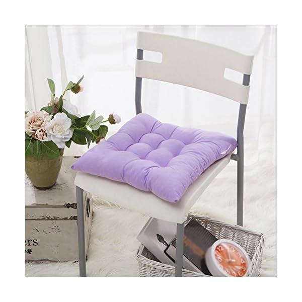 Worsendy Cuscino Sedia, Cuscini per Giardino, per Dentro e/o Fuori,40x40 cm,Disponibile in Tanti Colori Diversi,Cuscini… 4 spesavip