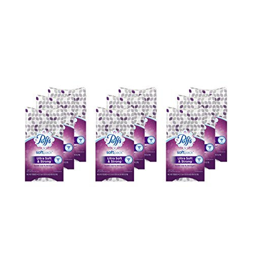 Puffs Ultra Soft & Strong Facial Tissues, 9 Softpacks, 96 Tissues Per Softpack (Packaging May Vary) by Puffs
