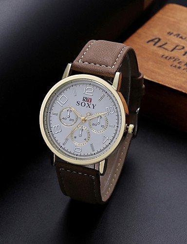 Relojes de pulsera de moda característicos relojes número de cuero de hombres romanos Reloj relojes de