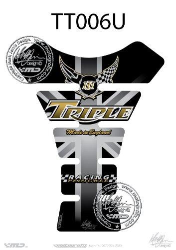 Triumph Speed / Street Triple Universal Tank Pad Tankpad Motografix 3D Gel Protector TTOO6U