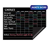 Chore Chart - Reward and Responsibility Chart - Magnetic Dry Erase - Refrigerator Weekly/Daily Kids and Toddler Chart - 16 x 12