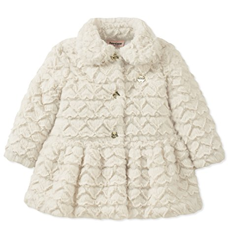 Juicy Couture Baby Girls Jacket, White, 24M