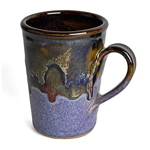 Larrabee Ceramics Coffee Mug, Burgundy/Multi