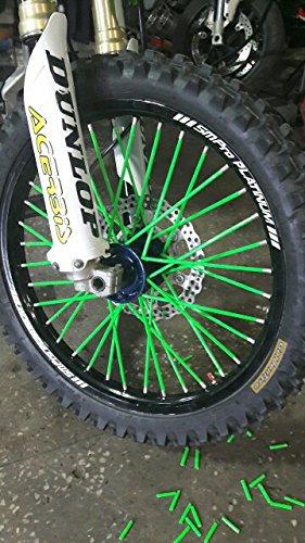 72 Pcs Green Motorcycle Spoke Covers Guards - 19''-21'' Rims Kawasaki KX125 KX250 KX250F KX450F KLX250 Dirt Bike by Unknown (Image #2)