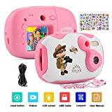 AMKOV DIY Kids Camera Rechargeable Digital Mini Camera Children Creative Camcorders with 1.44 Inch LCD Screen, Video Recorder, Reset Button for Girls/Boys