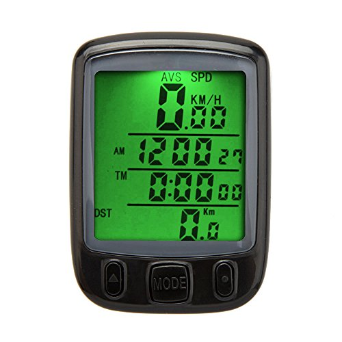 Wired Lcd - Leezo Bicycle Computer Wired Waterproof Cycling Computer Magnet Bicycle Speedometer with LCD Backlight Display Multi Function Odometer for Hiking, Climbing, Riding
