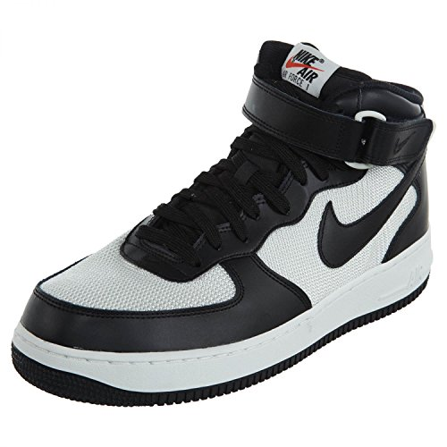 '07 Mid White Black Force Men's Air 1 Nike IqfHCw4w