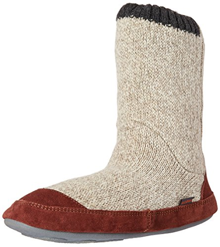 (Acorn Men's Slouch Boot Slipper, Grey Ragg Wool, X-Large / 12-13)
