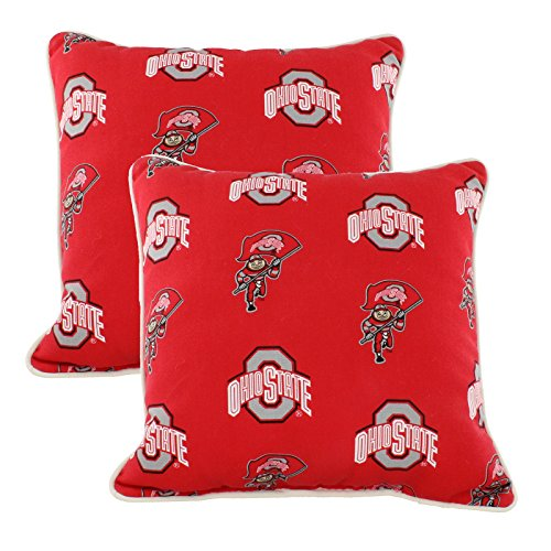 College Covers OHIODPPR Ohio State Buckeyes Outdoor Decorative Pillow Pair, 16