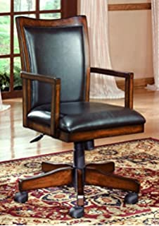 signature design by ashley h527 01a hamlyn collection home office desk chair medium brown alymere home office desk